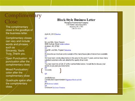 Official Letter Format Margin Business Letter