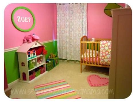 pink and green baby room this pink and green baby nursery was decorated for 150