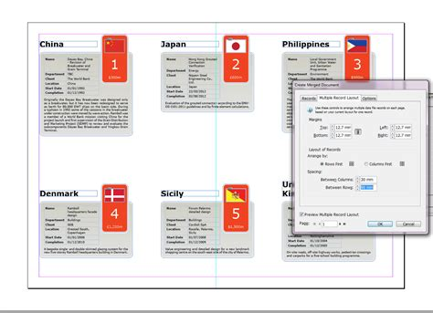 multiple record layout indesign cc designing and data merging with multiple records in
