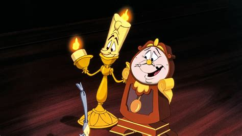 and the beast lumiere l and the beast s lumi 233 re and cogsworth a