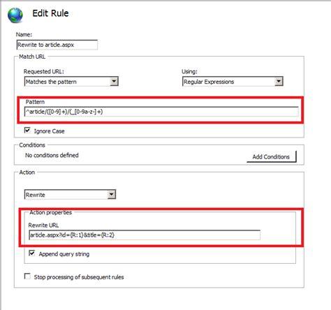 pattern url asp net iss url rewriting pattern stack overflow
