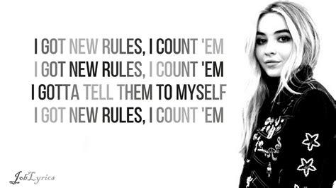 new rules lyrics dua lipa sabrina carpenter cover new rules lyrics