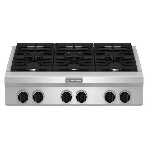 kitchenaid 36 gas range kitchenaid 36 quot gas rangetop review rating kgcu467vss