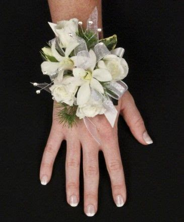 are corsages in style sparkly white prom corsage in port au choix nl ocean