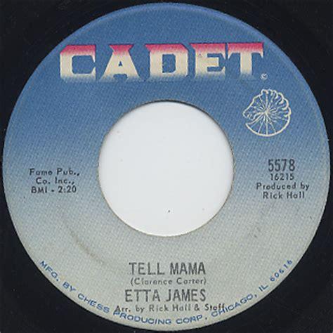 Etta I D Rather Go Blind Vinyl - etta tell c w i d rather go blind 7inch