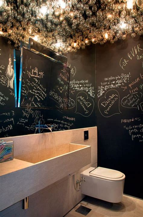 funky bathroom ideas 21 unconventional chalkboard bathroom d 233 cor ideas digsdigs