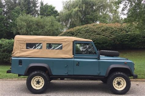 1991 land rover defender 110 60876 miles blue suv 4 cylinder manual classic land rover