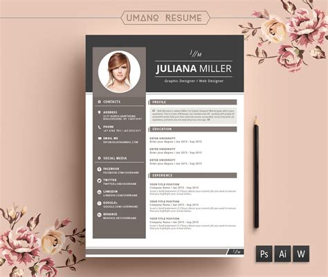 Resume Template : Design Free Download Creative Cv
