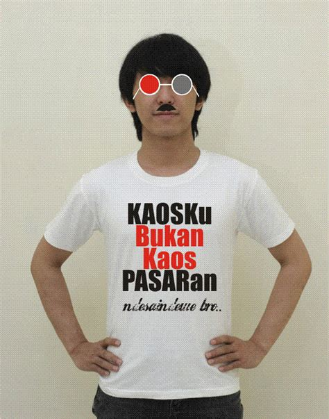 Khusus Kaos Custom Sablon Poliflex Kaos Indonesia Supreme sablon kaos satu biji sashoki