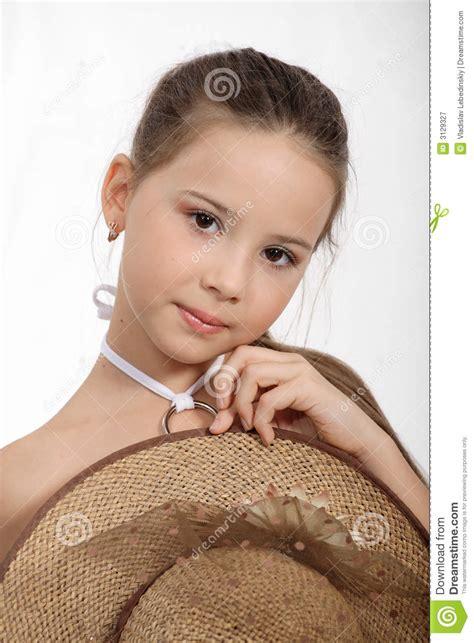 small beautiful pics beautiful small girl stock image image of straw glow