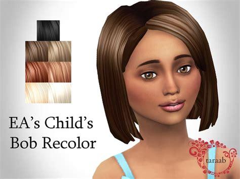 child bob haircut sims 4 ea s child s bob recolor by taraab at tsr 187 sims 4 updates