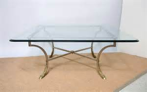 Square Glass Top Coffee Table Square Beveled Glass Top With Steel Brass Base Coffee Table Image 2