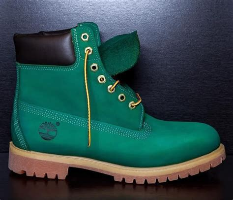 green timberland boots sycamore style custom dyed quot big apple quot green timberland
