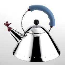 Antique Looking Vases Alessi 9093 Kettle With Bird In Azure By Michael Graves