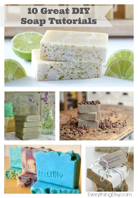 Handmade Gifts Tutorials - 10 great diy soap tutorials the handmade gift