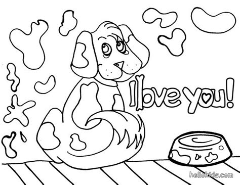coloring pages puppy love dog coloring pages dog in love 12017 bestofcoloring com