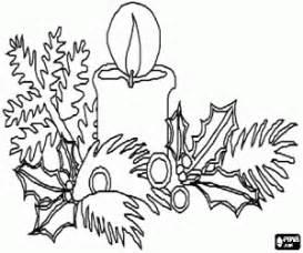 candela bruciata disegni di candele di natale da colorare e stare 2