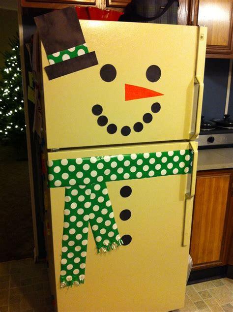 decoration diy snowman fridge crafts and