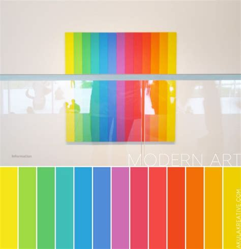 color themes modern a modern art inspired color palette rainbow color
