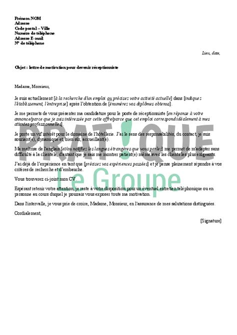 Lettre De Motivation De Week End Lettre De Motivation Hotellerie Le Dif En Questions