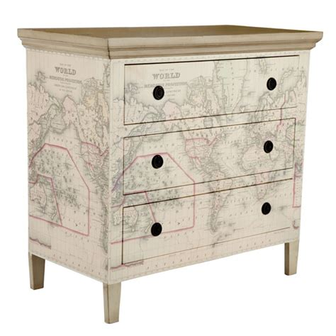 Decoupage Maps On Furniture - wisteria