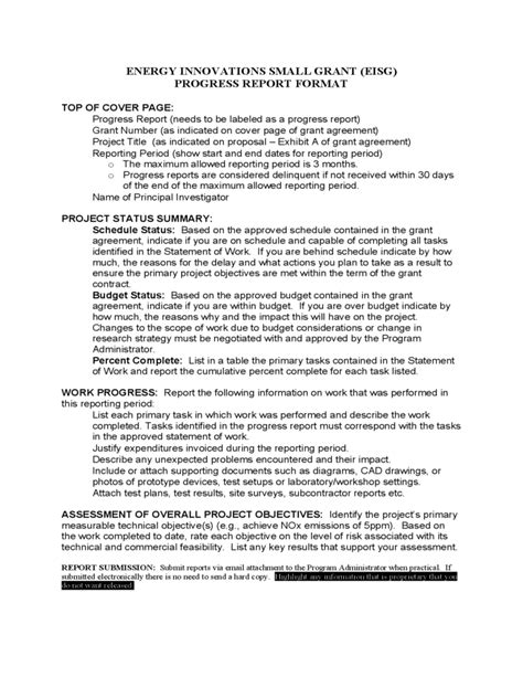 what is a report template template of progress report format free