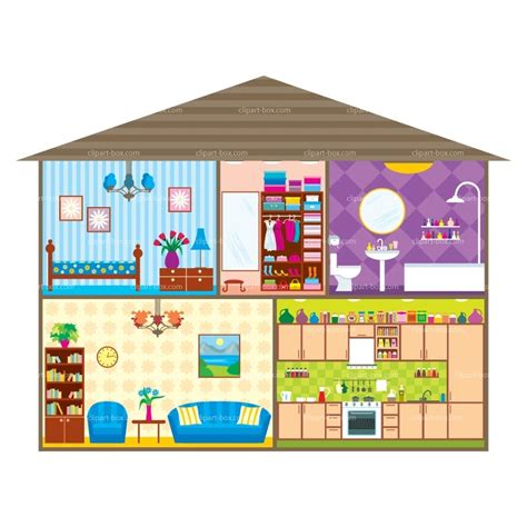 the house of rooms of the house clipart clipartxtras