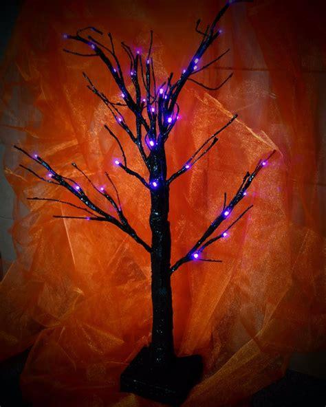 light up black glitter led twig tree