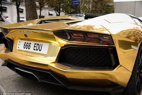 24k Gold Lamborghini 6 Million Gold Lamborghini Aventador Dazzles On The