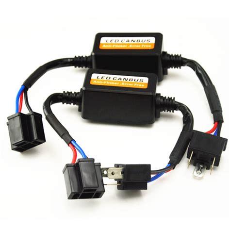 audi led load resistor 2pcs h1 h4 h7 h11 led drl headlight canbus error warning canceller load resistor decoder h3 9005