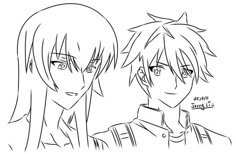 highschool of the dead coloring pages high school of the dead pages coloring pages