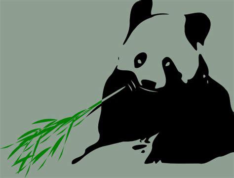 panda bear eating bamboo clip art  clkercom vector