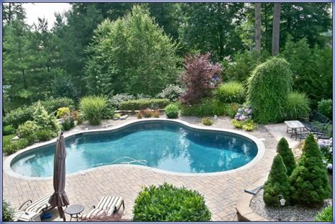 inground pool ideas simple ideas for landscaping with a semi inground pool