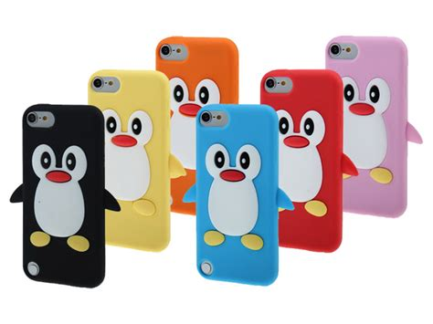 pinguin silicone skin case voor ipod touch gg
