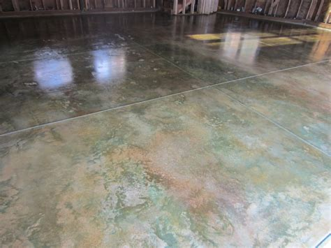 legacy industrial s site acid stained concrete for airplane hangars workshops and more