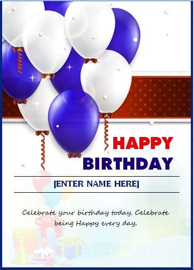 happy birthday templates birthday wishing card template word excel templates