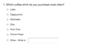 Quantitative Questions Versus Qualitative Questions In Surveys Coffee Survey Template