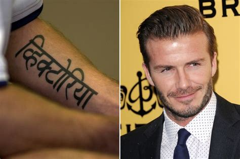 david beckham tattoo regret cheryl cole tattoo the celebrities to get inked with