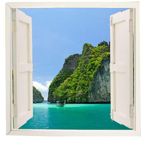 imagenes de paisajes vistos desde una ventana ventana adhesiva paisaje mar ex 243 tico