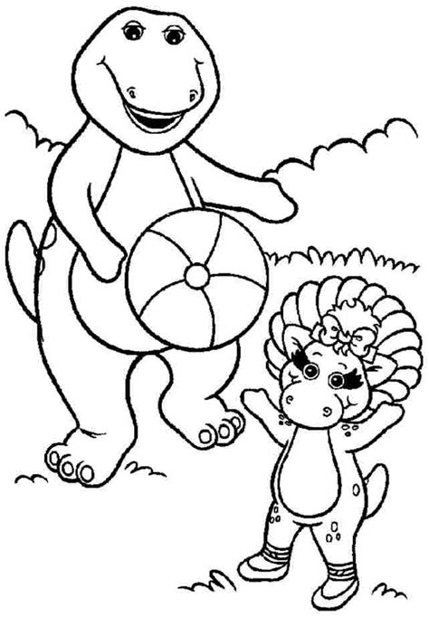 free barney coloring pages coloring home
