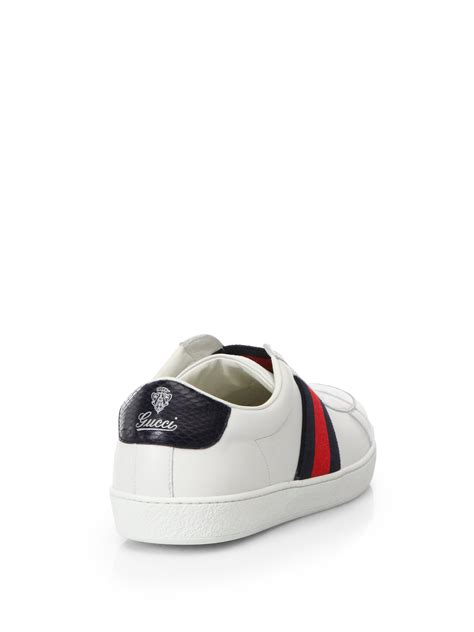 gucci white sneakers gucci white slip on sneakers for lyst
