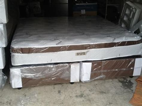 Restonic King Size Mattress by Beds New Restonic King Size Eurotop Bed Set For Sale In