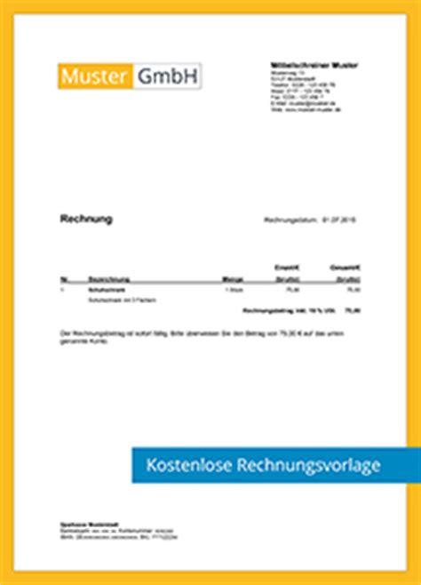 Muster Rechnung Webdesign Kostenlose Rechnungsvorlagen Scopevisio Ag