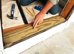 Install Exterior Door Threshold Installing Exterior Doors With Easy To Follow