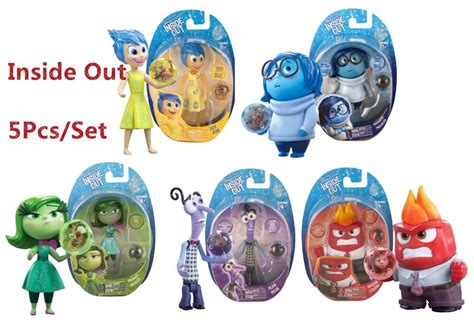 Figure Set 9pcs Inside Out 4inch inside out figure toys set of 5 figures fear disgust sadness anger toys for