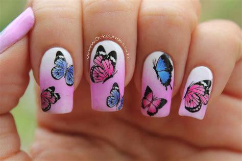 Nägel Mit Blumen by Decoraci 243 N De U 241 As Con Mariposas Deko U 209 As Moda En Tus