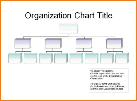 free printable organizational chart template printable