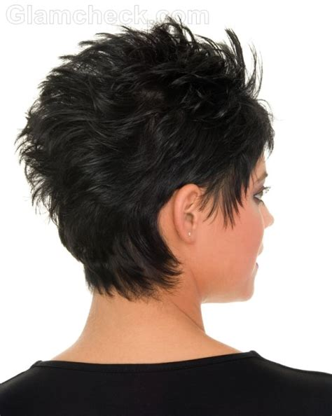 pixie haircuts women thick hair front and back view of same pixie haircut