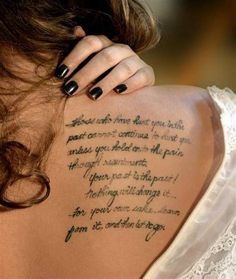tattoo inspirational words 30 stylish tattoo quotes for girls
