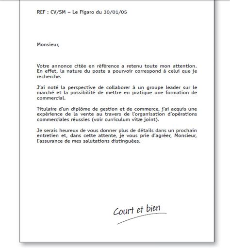 lettre de motivation stage seconde document